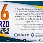 Convocatoria pública a la audiencia de rendición de cuentas vigencia 2019